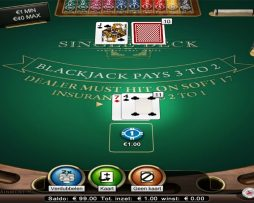 blackjack single deck high netent