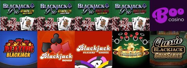 Spelaanbod BooCasino Online Blackjack
